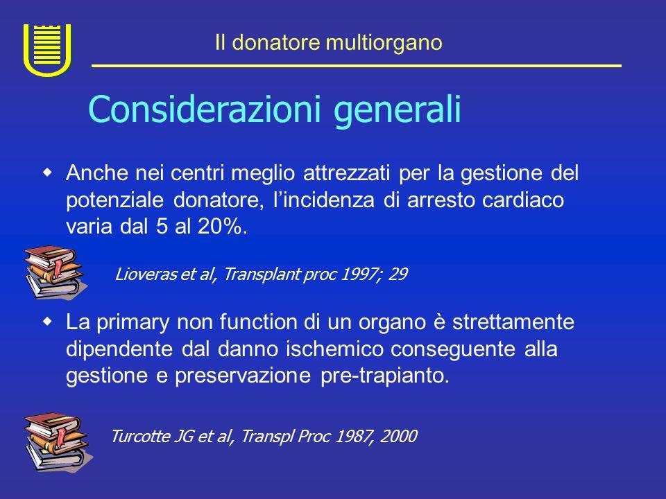 Il donatore multiorgano La morte cerebrale si accompagna a: 1.