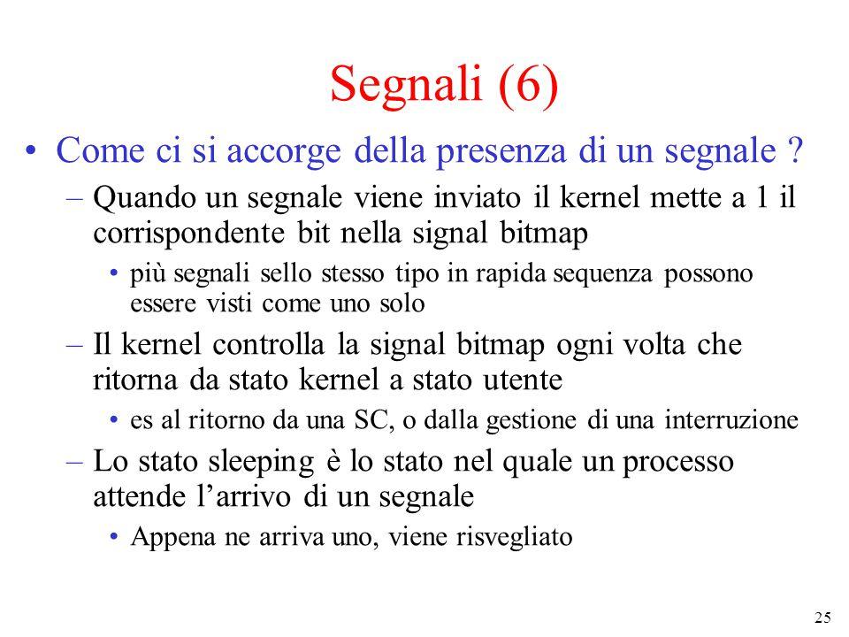 25 Segnali (6) Come ci si accorge della presenza di un segnale .