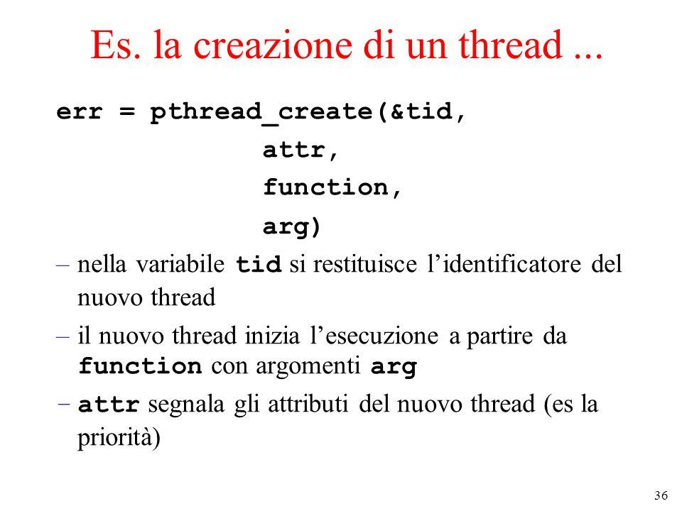 36 Es. la creazione di un thread...