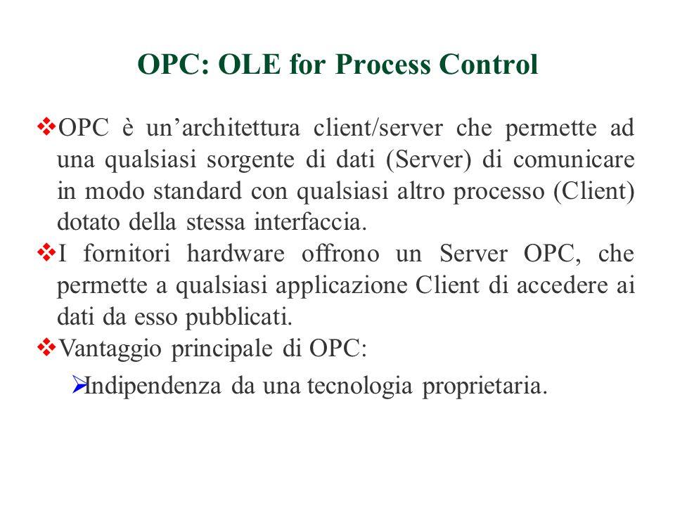  Le specifiche OPC contengono due set di interfacce:  Custom Interfaces: sono usate in linguaggi (es.C++) che supportano i puntatori a funzioni.