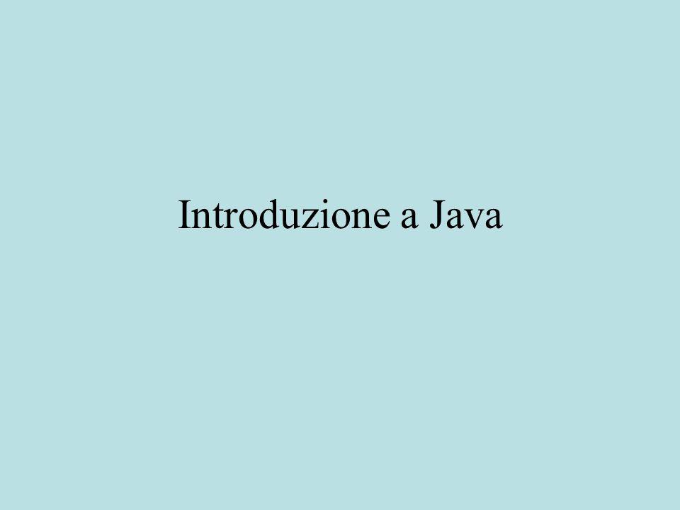 Introduzione a Java