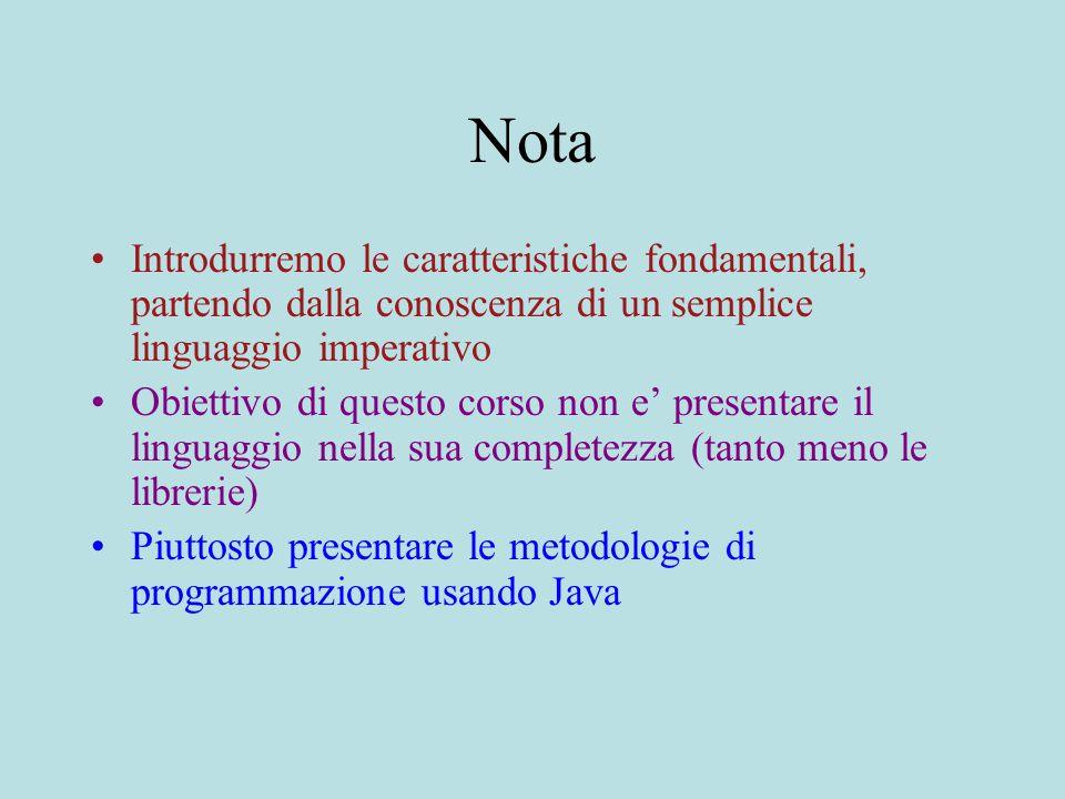 Riferimenti CAP.2: B.Liskov, Program Development in Java Cay S.