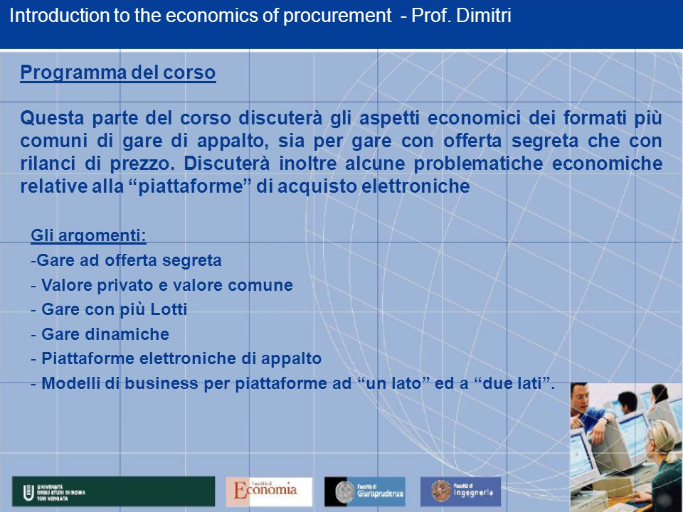 Introduction to the economics of procurement - Prof.