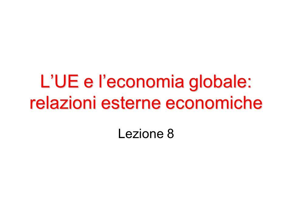 L'UE nel commercio mondiale: fatti essenziali L'UE è una presenza notevole nell'economia mondiale.