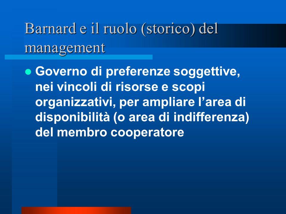La condizione di membro cooperatore dell'organizzazione (secondo Barnard)..qualsiasi categoria di membri che a qualsiasi titolo instaurano con il sist