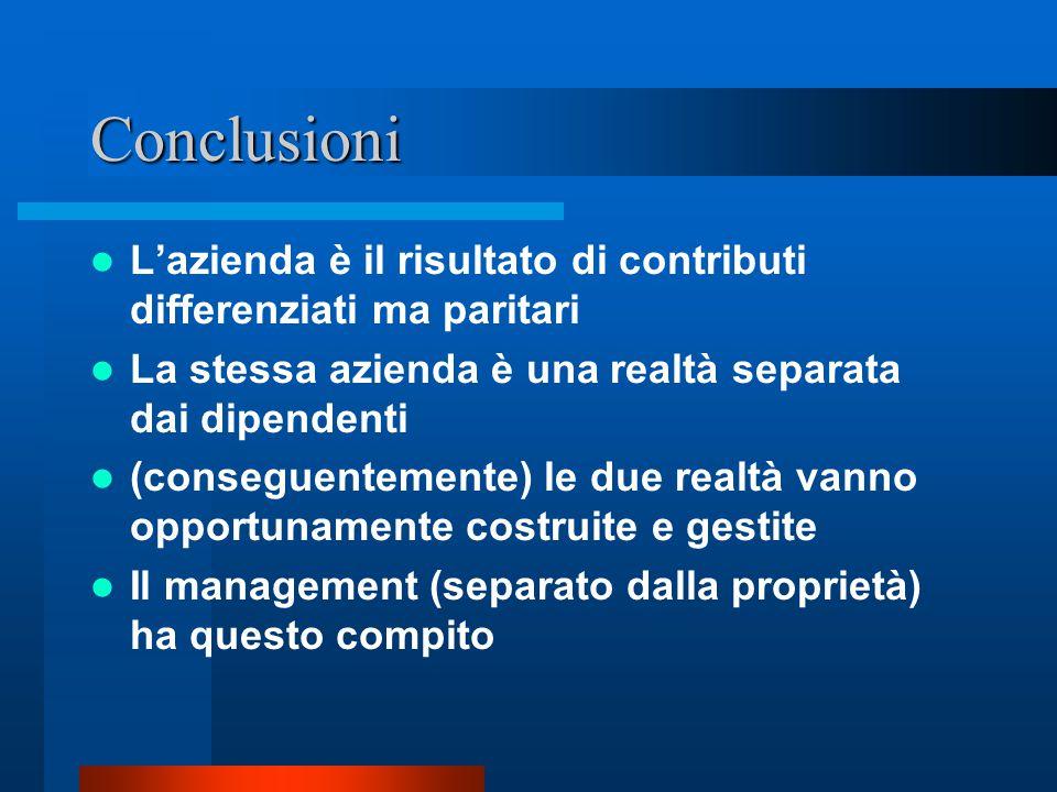 Tabella riassuntiva del sistema cooperativo di Barnard L'organizzazione supera i limiti individuali L'organizzazione è un sistema cooperativo Fondazio