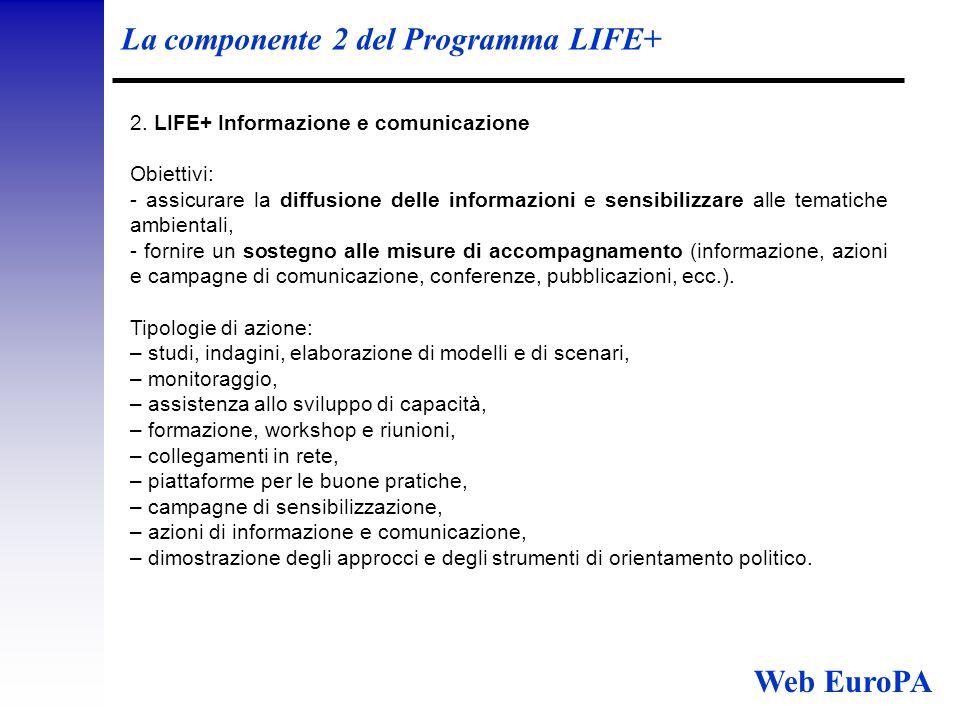 La componente 2 del Programma LIFE+ 2.