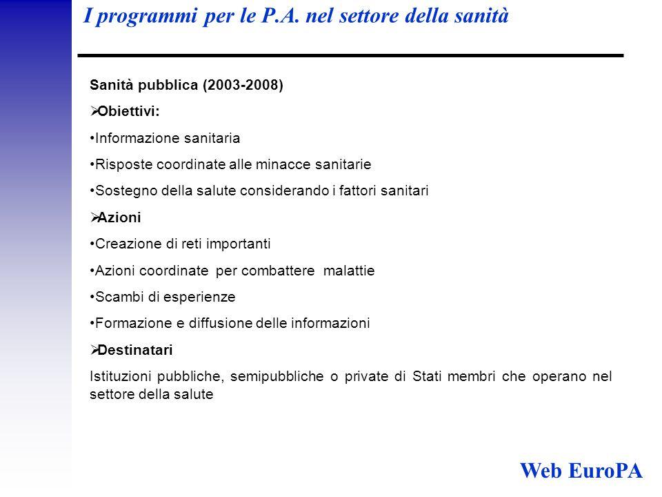 I programmi per le P.A.
