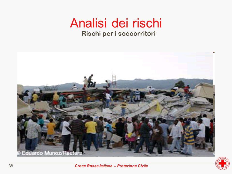 ________________________________________________________________________________________________ Croce Rossa Italiana – Protezione Civile 38 Analisi dei rischi Rischi per i soccorritori