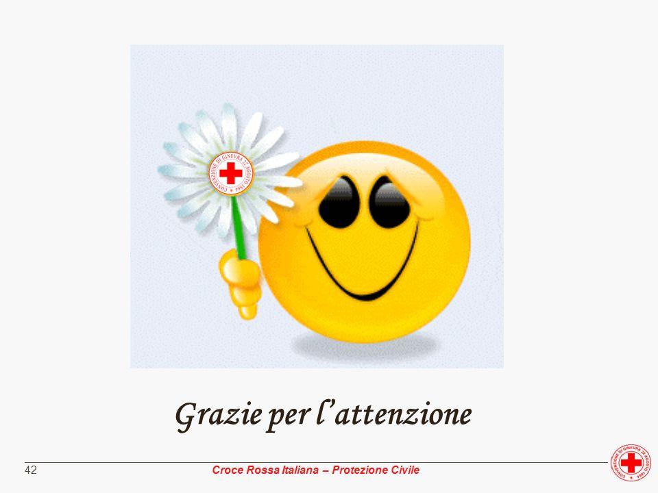 ________________________________________________________________________________________________ Croce Rossa Italiana – Protezione Civile 42 Grazie per l'attenzione