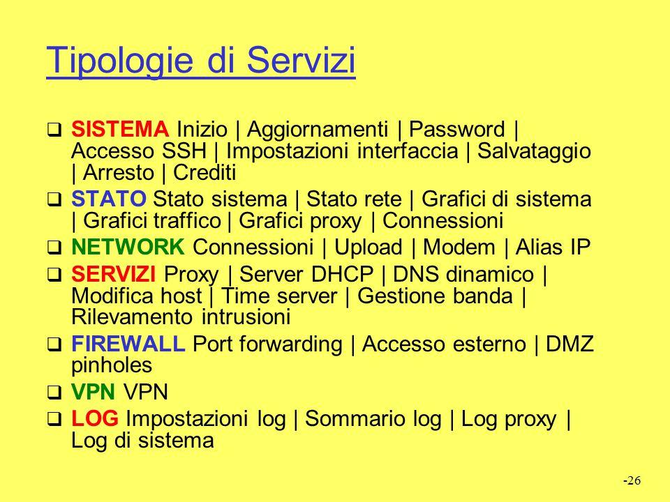-25 Configurazione (Web)