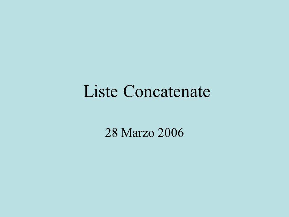 Liste Concatenate 28 Marzo 2006