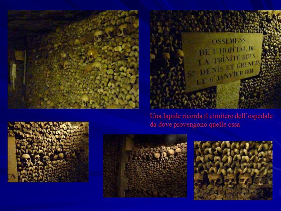 Una lapide ricorda il cimitero dell'ospedale da dove provengono quelle ossa