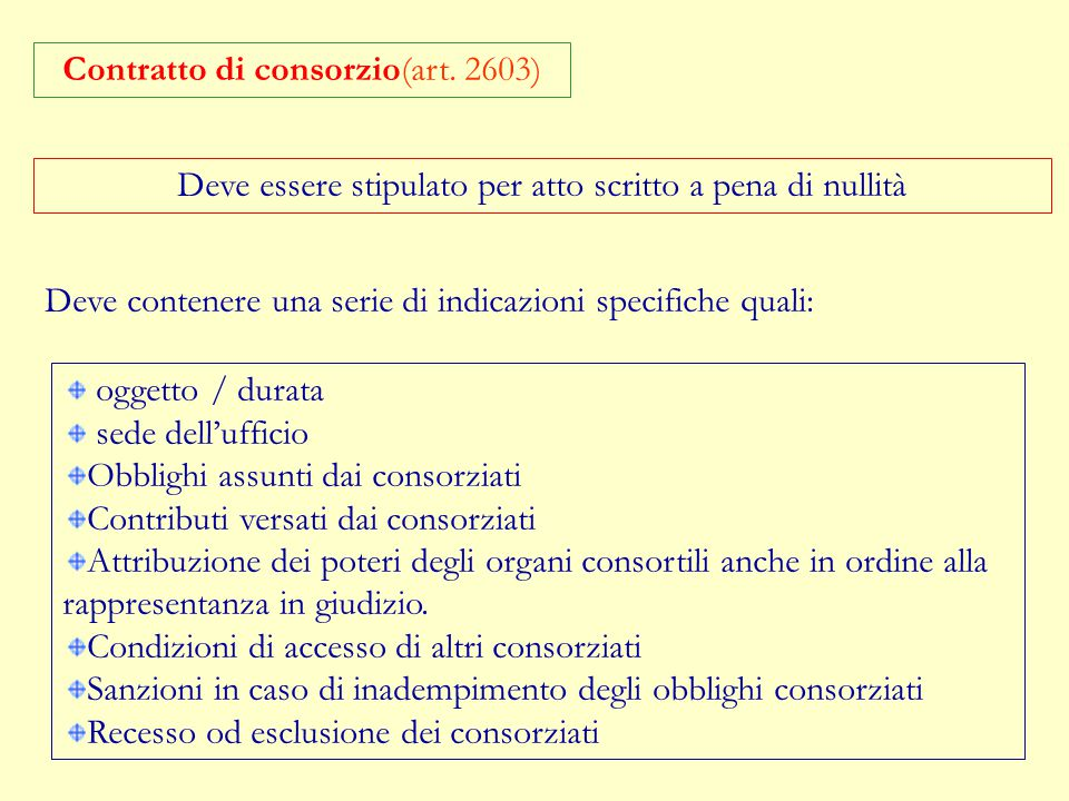 Consorzio con attività interna:si da luogo ad una creazione di un'organizzazione comune finalizzata alla regolazione dei rapporti reciproci fra i cons
