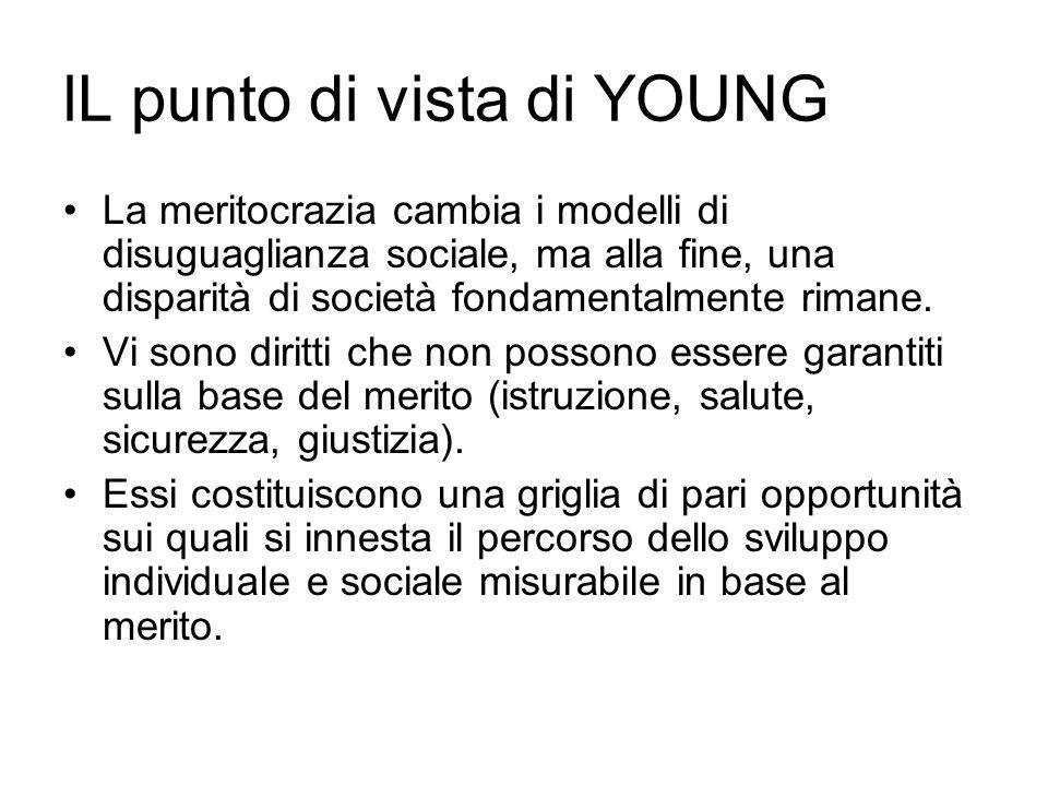 lL punto di vista di YOUNG La meritocrazia cambia i modelli di disuguaglianza sociale, ma alla fine, una disparità di società fondamentalmente rimane.