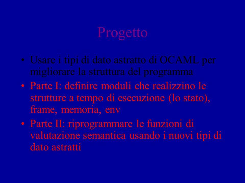 Progetto Usare i tipi di dato astratto di OCAML per migliorare la struttura del programma Parte I: definire moduli che realizzino le strutture a tempo