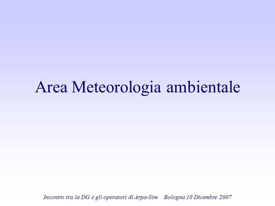 Area Meteorologia ambientale