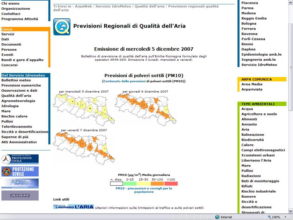 Incontro tra la DG e gli operatori di Arpa-Sim Bologna 10 Dicembre 2007