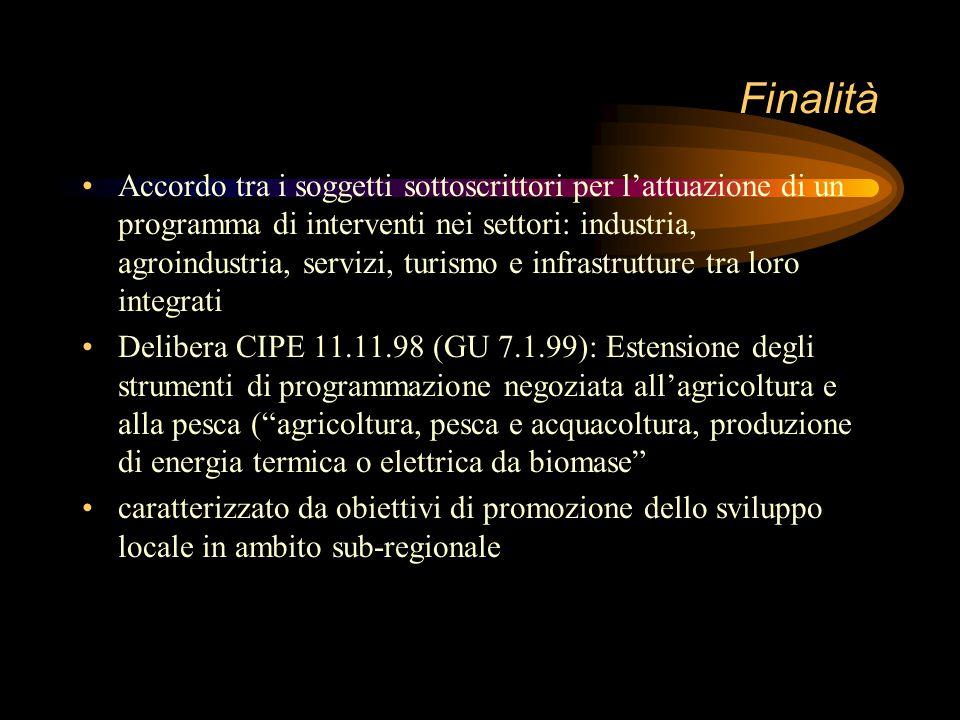 deliberazione CIPE del 21 marzo 97 La deliberazione CIPE del 21 marzo 97 (GURI 8.5.97) adotta per i patti territoriali una disciplina unitaria sostitu