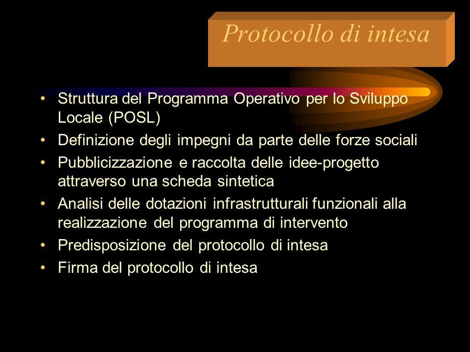 Promozione e concertazione  Analisi dello scenario socio-economico e degli assi prioritari dello sviluppo locale  concertazione sugli obiettivi prio