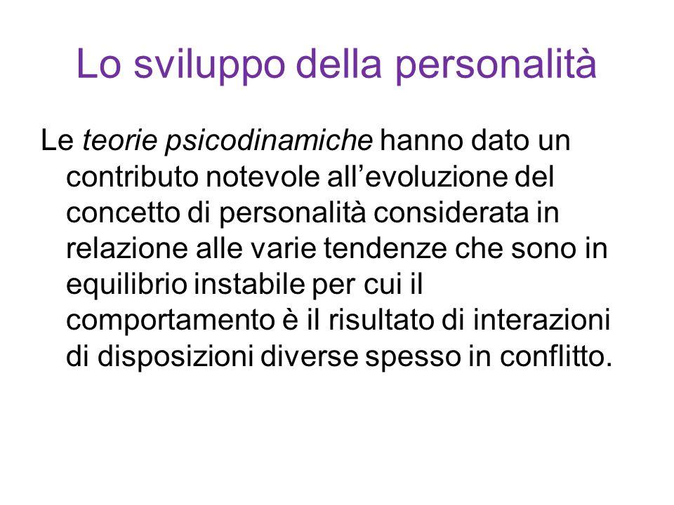 Lo sviluppo della personalità Prima di S.