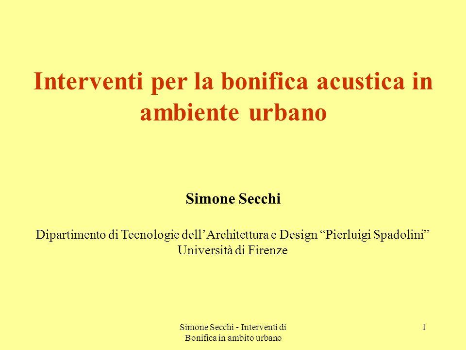 Simone Secchi - Interventi di Bonifica in ambito urbano 22 Livelli equivalenti a bordo strada Confronto tra dati correlati e non correlati - asfalto A