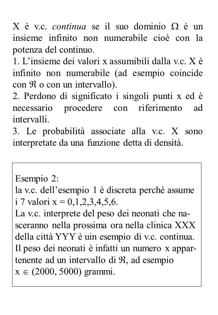 X è v.c.