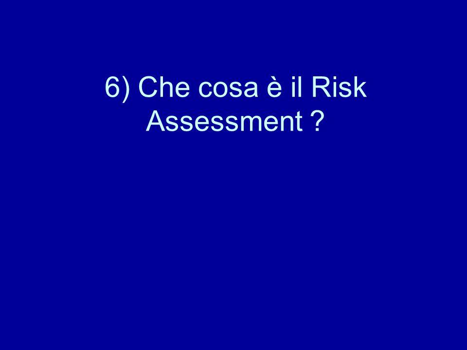 6) Che cosa è il Risk Assessment ?