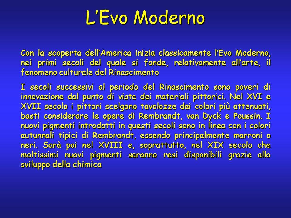 L'Evo Moderno Con la scoperta dell'America inizia classicamente l'Evo Moderno, nei primi secoli del quale si fonde, relativamente all'arte, il fenomen