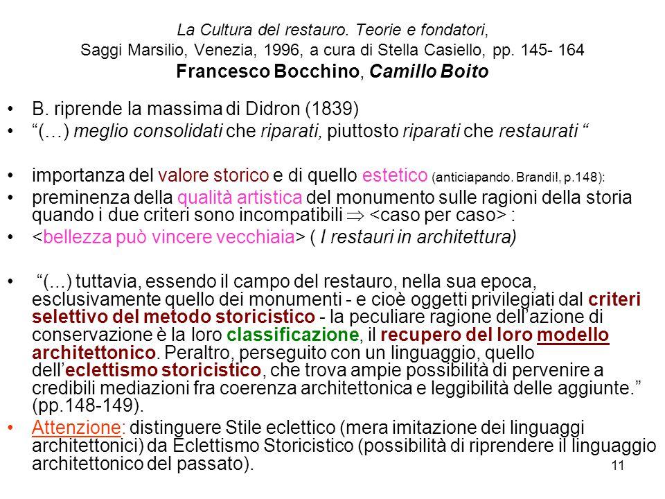 11 La Cultura del restauro.