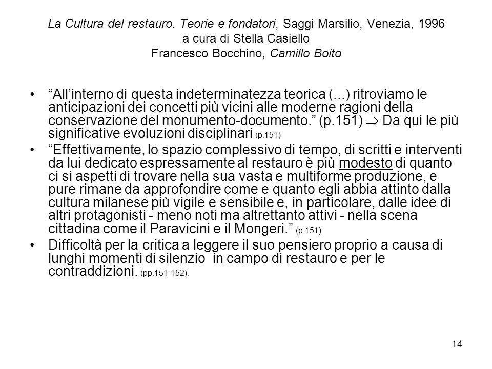 14 La Cultura del restauro.