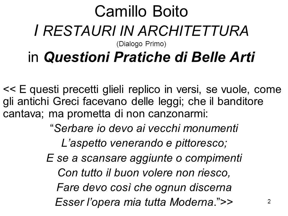 3 Camillo Boito 1836 -1914 - collocazione storica: 1) Quali sono gli eventi caratterizzanti la seconda metà dell'Ottocento in Italia ed in Europa.