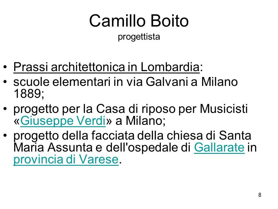 9 Camillo Boito RESTAURO FILOLOGICO il restauro filologico la filologia e il restauro Teoria : - Critica sia Viollet-le-Duc sia Ruskin.