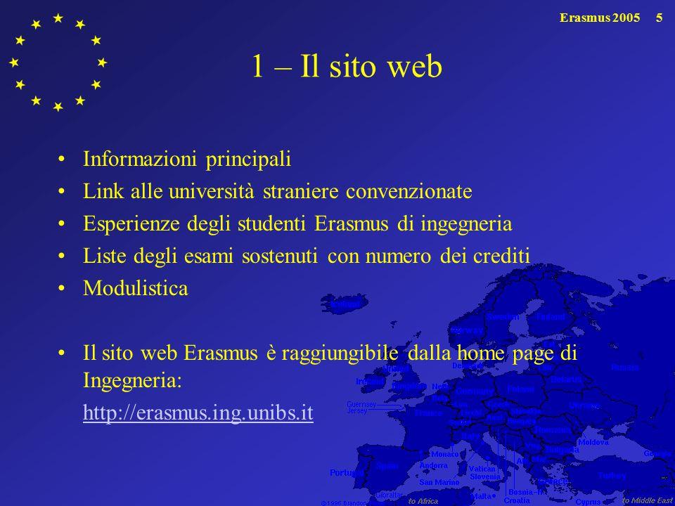 Erasmus 20056 2 - La commissione Erasmus Sig.ra De La Vega, ufficio relazioni internazionali Prof.