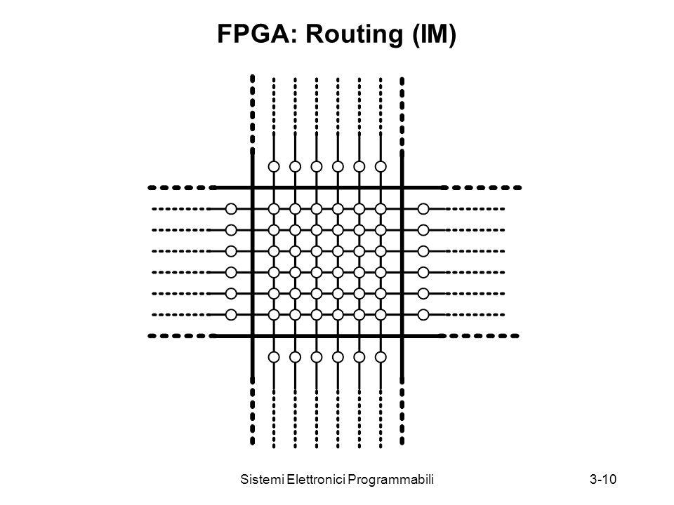 Sistemi Elettronici Programmabili3-10 FPGA: Routing (IM)