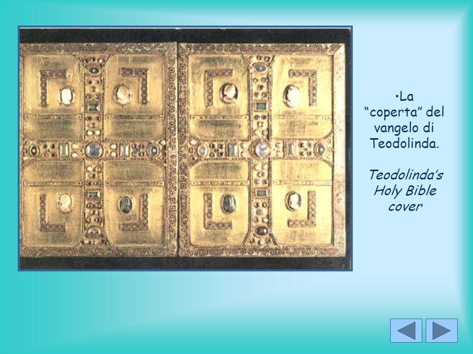 La coperta del vangelo di Teodolinda. Teodolinda's Holy Bible cover