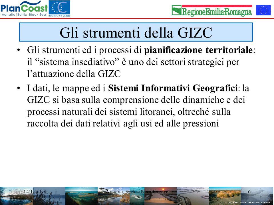 14th JulyAncona, Kick-off conference7 Attuazione della GIZC in Europa Evaluation of Integrated Coastal Zone Management (ICZM) in Europe, Final Report 18 August 2006