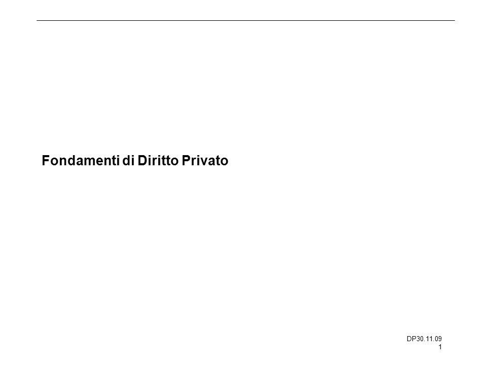 DP30.11.09 1 Fondamenti di Diritto Privato