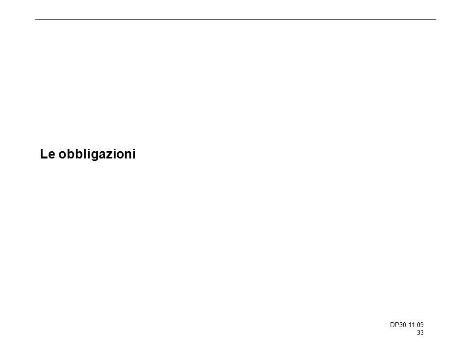 DP30.11.09 33 Le obbligazioni