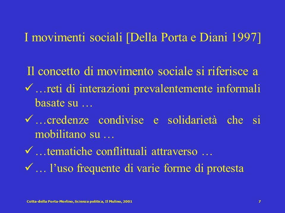 Cotta-della Porta-Morlino, Scienza politica, Il Mulino, 20016 I fattori che spiegano la propensione a partecipare (Milbrath e Goel 1977)) Partecipano