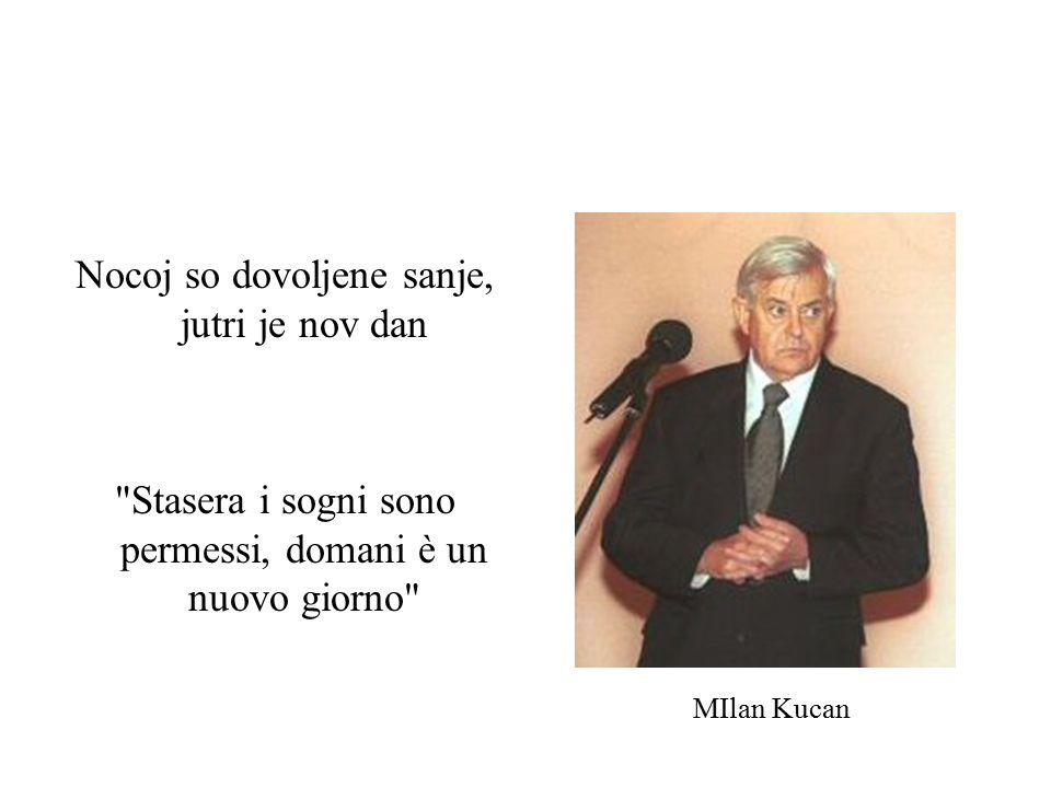 Nocoj so dovoljene sanje, jutri je nov dan Stasera i sogni sono permessi, domani è un nuovo giorno MIlan Kucan