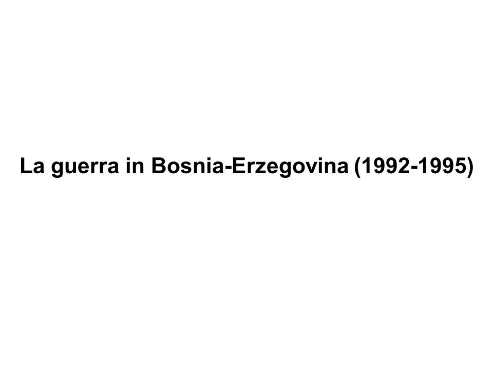 La guerra in Bosnia-Erzegovina (1992-1995)