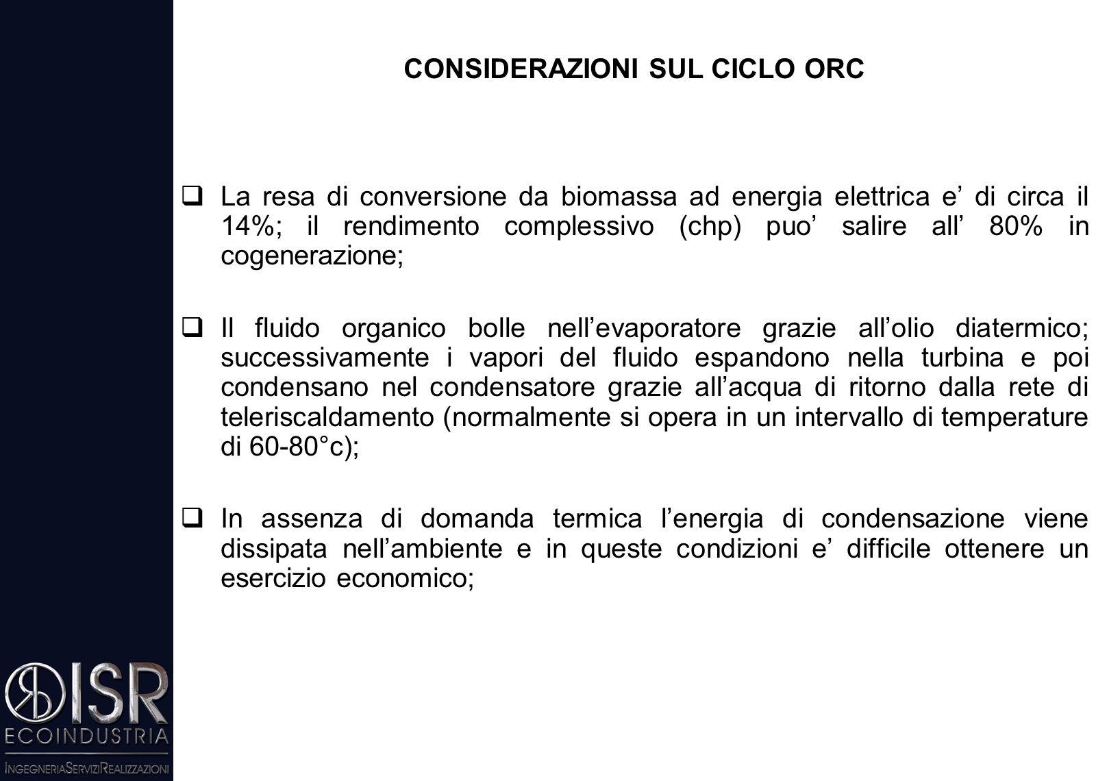 IMPIANTI DI MEDIA TAGLIA PER IL TELERISCALDAMENTO CON BIOMASSE SOLIDE (1 – 20 MW TERMICI)  Il sistema di cogenerazione basato sulla caldaia ad olio d