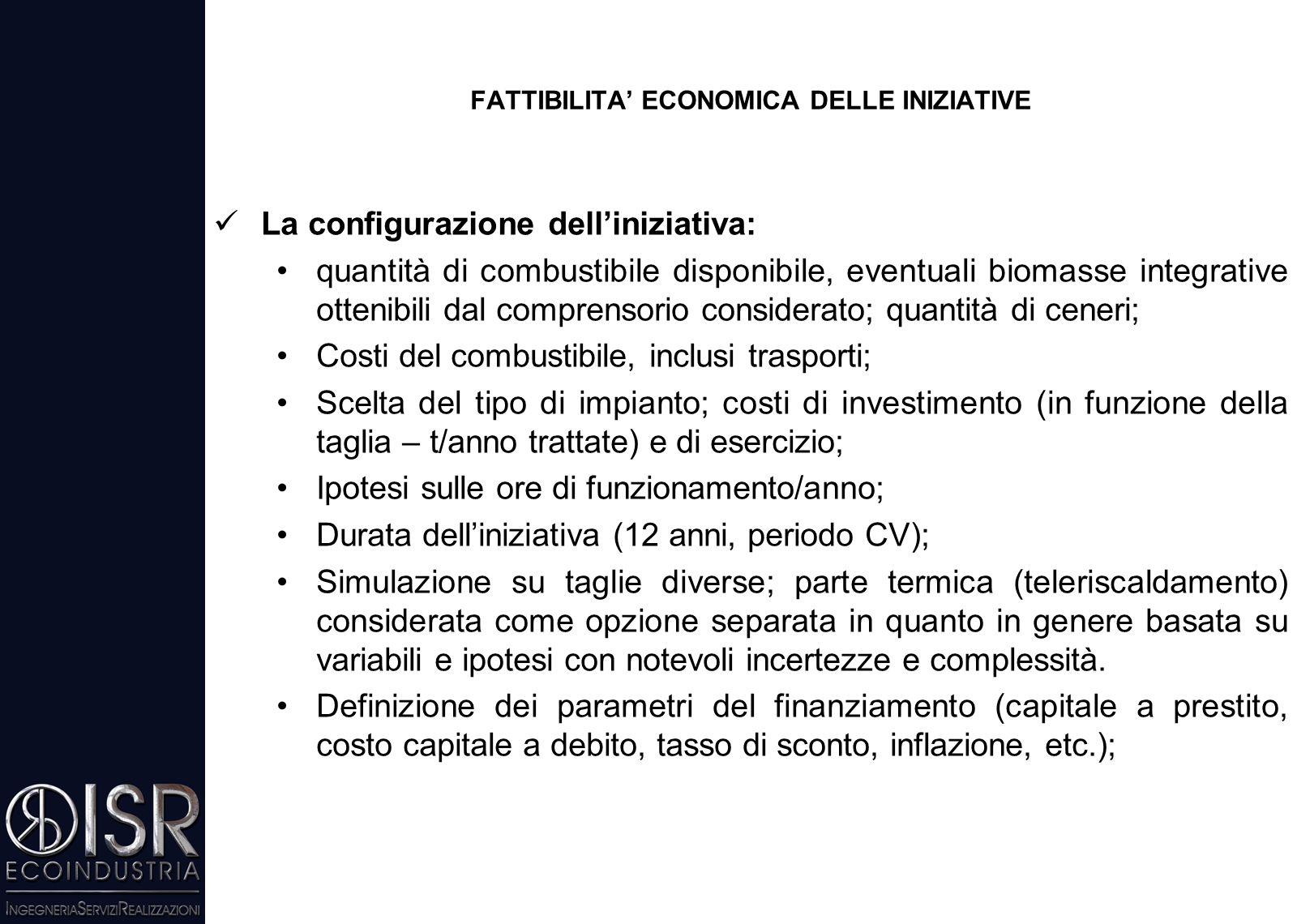 """Ci sono attualmente Istituti di Credito che offrono assistenza alle imprese (""""Project Financing"""" – rientro dell'investimento tramite canalizzazione de"""