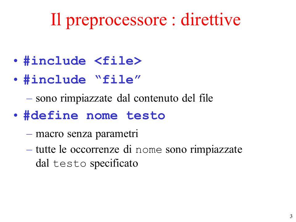 4 Macro con parametri È possibile definire macro con parametri.