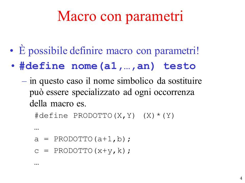 5 Macro con parametri (2) –Dopo la passata del pre-processore...