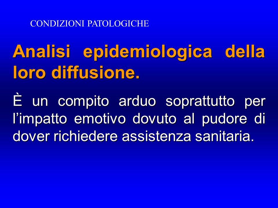 Analisi epidemiologica della loro diffusione.