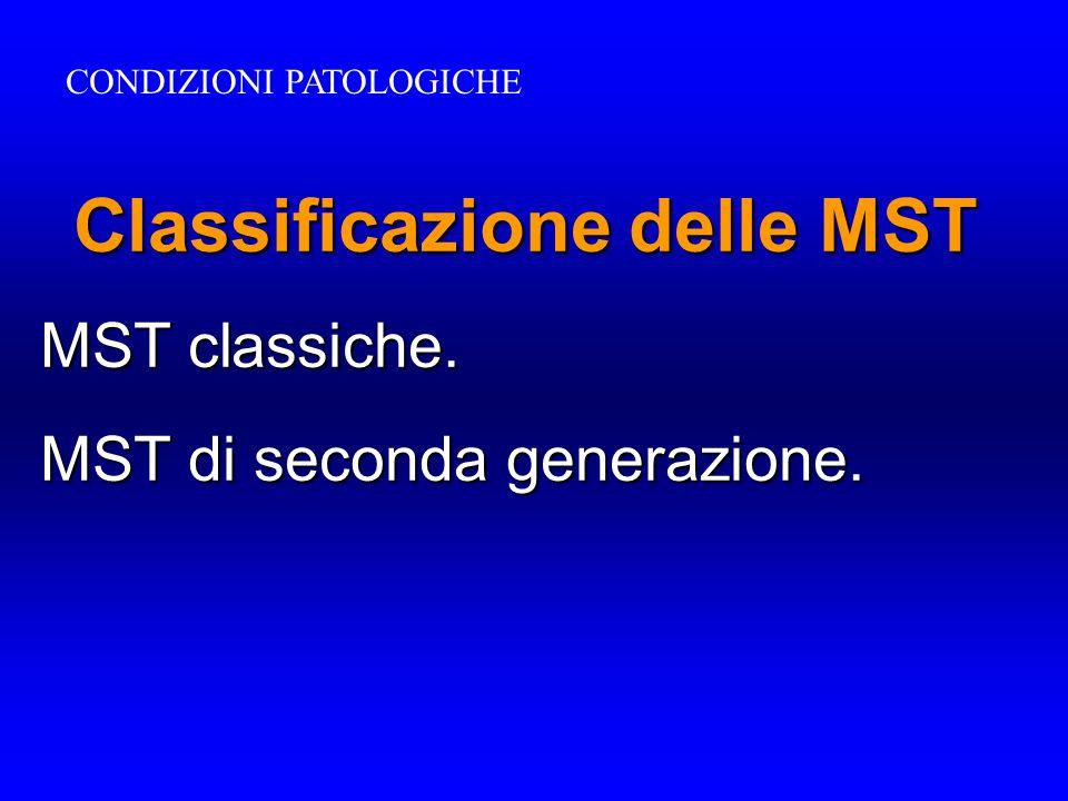 Classificazione delle MST MST classiche. MST di seconda generazione. CONDIZIONI PATOLOGICHE