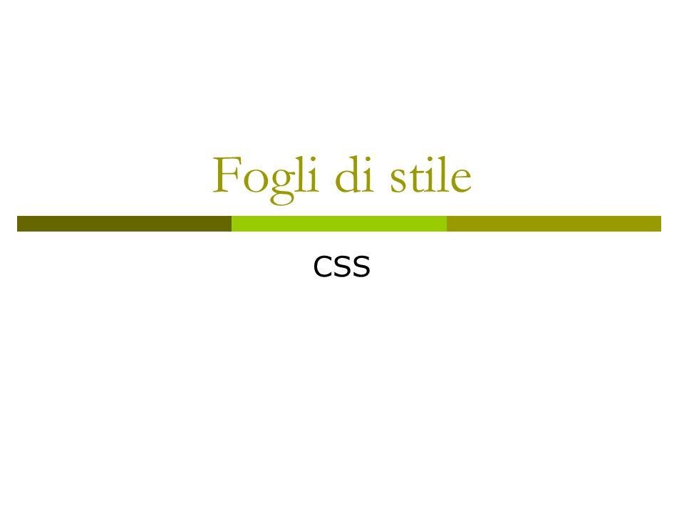 Fogli di stile CSS