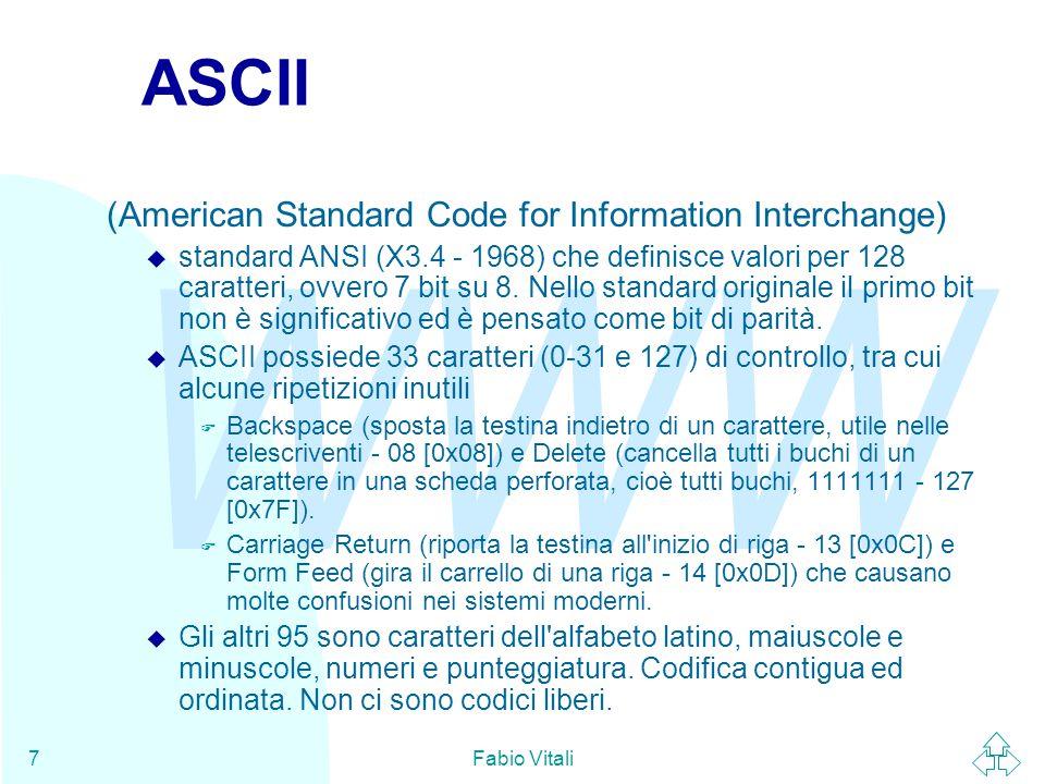 WWW Fabio Vitali28 Riferimenti N.Bradley, The XML companion, Addison Wesley, 1998, cap.